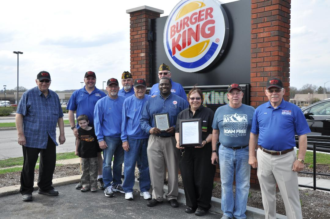GROSS YAKSH MEMBERS STOP BY TO THANK BURGER KING FOR THEIR GENEROUS SUPPORT OF UNMET NEEDS