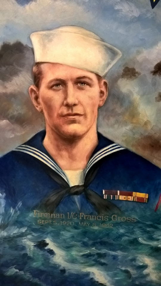 Francis Gross Served on Carrier Yorktown